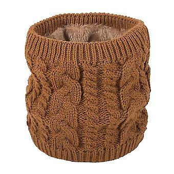 Bufanda caliente en invierno, bufanda de punto para parejas, color puro más bufanda de terciopelo (amarillo)