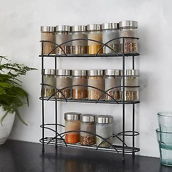 USED NEW - Free Standing Spice Rack in Black Powder Coating