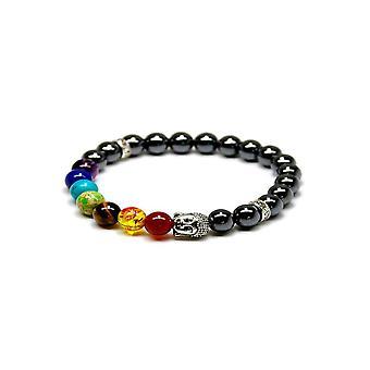 Chakra armband - Svart Hermatit 2 Pack