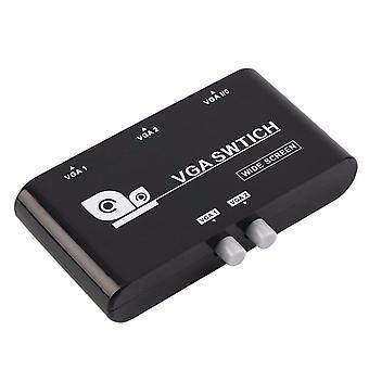 Mini 2 Port VGA Selector Box Multiple Inputs VGA/SVGA Manual Sharing Selector Switch Switcher Box
