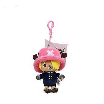One Piece Chopper Plush Keychain Key Ring Bag Pendant