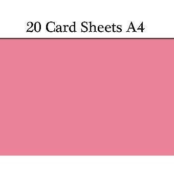 20 hojas de A4 rosa tarjeta para manualidades | Tarjeta de color para artesanías