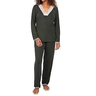 Cyberjammies Nora Rose Marilyn 1562 Vert Foncé Pour Femmes Pyjama Set