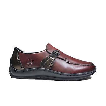 Rieker L1759-30 Viini nahka Naisten Slip On Shoes