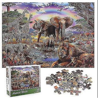 Skladačky 1000 kusov skladačky puzzle dospelí deti - zvierací svet skladačky puzzle 1000 diy hračky darček #4772