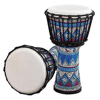 8 Zoll tragbare afrikanische Trommel Djembe Handtrommel mit bunten Kunstmustern Percussion Musical