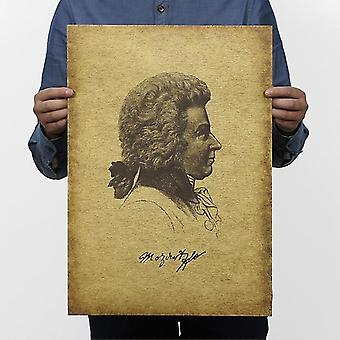 Muzikant Mozart Vintage Kraft Paper Classic Movie Poster