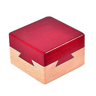 Mini 3D Brain Teaser Wooden Magic Drawers Puzzles Toy Model Building Kits Box|Model Building Kits