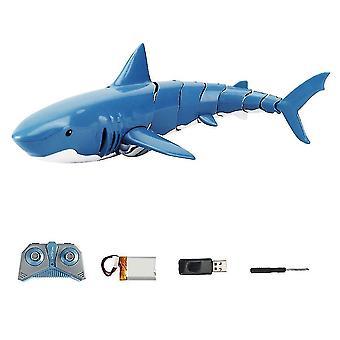 Robotic toys hot 2.4G rc shark fish boat robot radio simulation waterproof model joint flexible charging shark