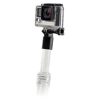 Camera lens zoom units floating selfie stick for sports camera transparent