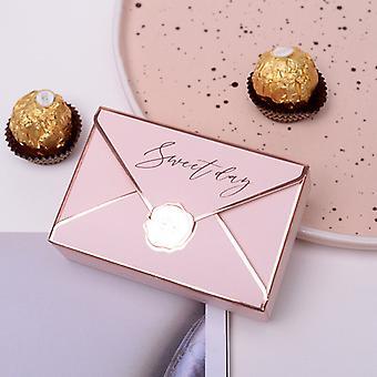 10st europeiskt kreativt kuvert Godis Dragee Box Present födelsedag gynnar Candy Box Baby Shower Party PresentförpackningAr