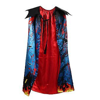 Halloween Dress Up Kinder Doppelschicht bedruckter Umhang