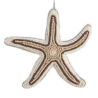 Bahama's Beaded Starfish 6 Inch stof Christmas Ornament vakantie