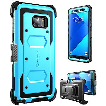 i-Blason-Galaxy Note 7 Case-Armorbox Fullbody Case-Blue