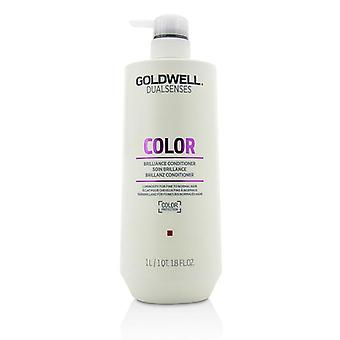 Goldwell Dual Senses färg Brilliance Conditioner (luminositet för fint till normalt hår)-1000ml/33,8 oz