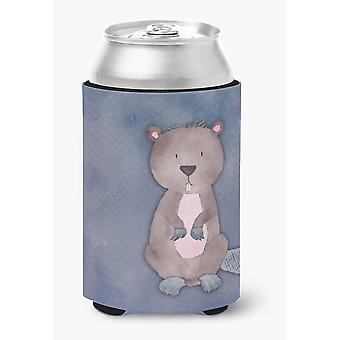Carolines Treasures  BB7392CC Beaver Watercolor Can or Bottle Hugger