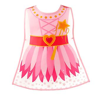 Cooksmart Children's PEVA Vinyl Tabard Apron, Pink Fairy Princess