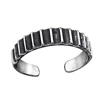 Patterned - 925 Sterling Silver Toe Rings - W27191X