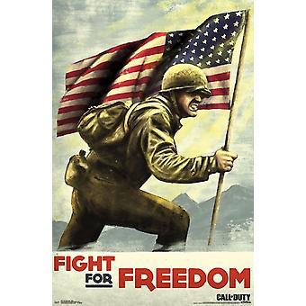 Call of Duty второй мировой войны - бой Плакат Печать