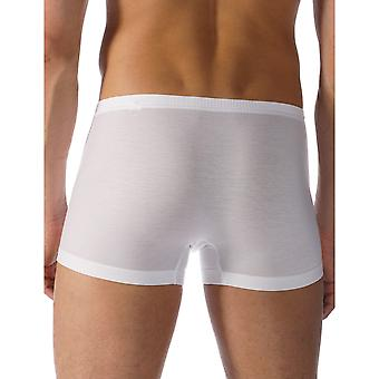 Mey 34221-101 Men's Network White Solid Colour Fitted Boxer