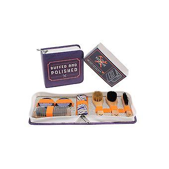 (CGB) Giftware de ijzerhandel afgeslepen en gepolijst Shoe Care Kit