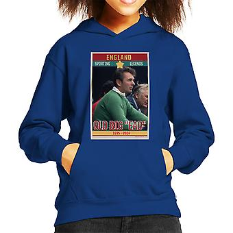 Sporting Legends Poster England Brian Clough Old Big Ead 1935 To 2004 Kid's Hooded Sweatshirt