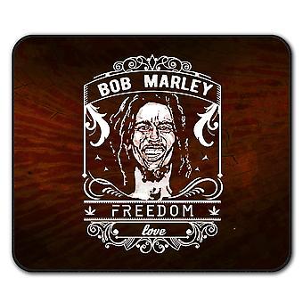 Miłość Marley Weed Rasta mysz antypoślizgowa Mata podkładka 24 cm x 20 cm | Wellcoda