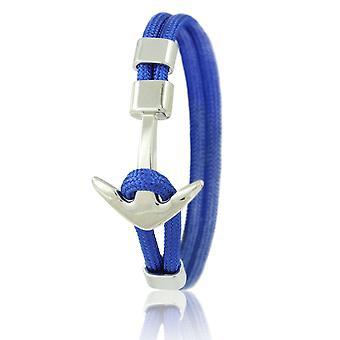 Braccialetti skipper ancoraggio braccialetto 21cm in nylon blu con ancoraggio d'argento 6959