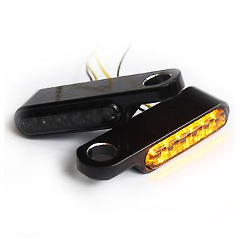 Iron optics motorcycle LED indicator + Winker for handlebar