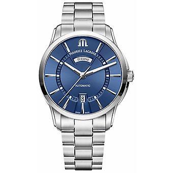 Maurice Lacroix Men's Pontos Blue Dial Stainless Steel Bracelet PT6358-SS002-430-1 Watch