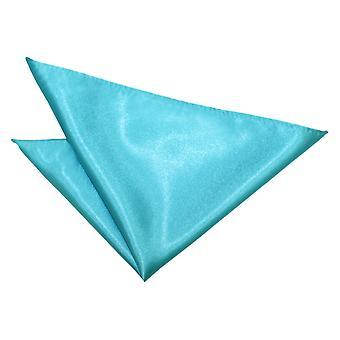 Egg bleu plaine mouchoir de Robin de poche de Satin