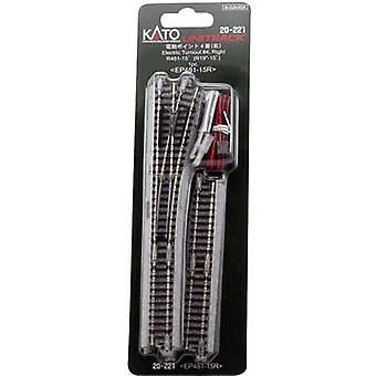 7078204 N Kato unit rack punten, elektrisch, rechts 124 mm 15 ° 481 mm