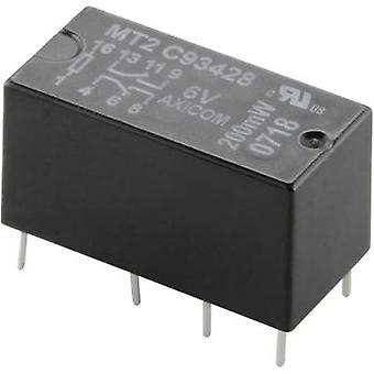 TE Connectivity C93418 PCB relay 12 V DC 2 A 2 change-overs 1 pc(s)