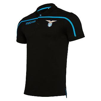 2018-2019 Lazio Poly Cotton Polo Shirt (Black)