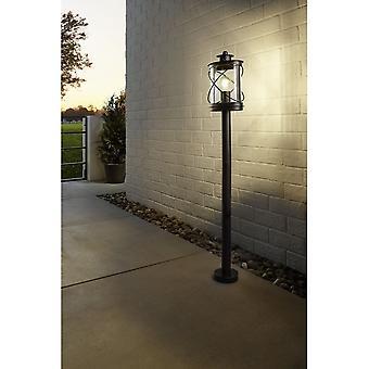 Eglo Hilburn Traditional Round Black Lantern Post Light
