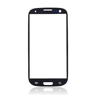 Zeug Certified® Samsung Galaxy S3 i9300 A + Qualität Frontglas - schwarz