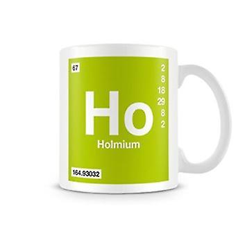 Wetenschappelijke bedrukte Mok met Element symbool 067 Ho - Holmium