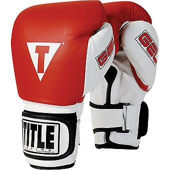Title Boxing Gel World Bag Gloves - Red