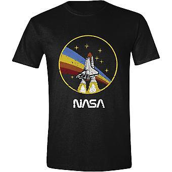 Cerchio di t-shirt razzo NASA