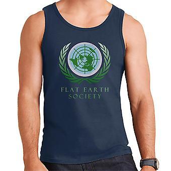 Flat Earth yhteiskunnan miesten liivi