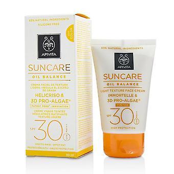 Suncare Oil Balance Light Texture Face Cream Spf 30 - Tinted - 50ml/1.7oz