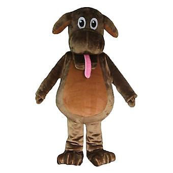 mascot SPOTSOUND of Brown dog sticking out the tongue