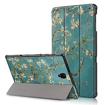 Slim fit cover voor Samsung Galaxy tab A 10,5 (2018)-boom met bloemen