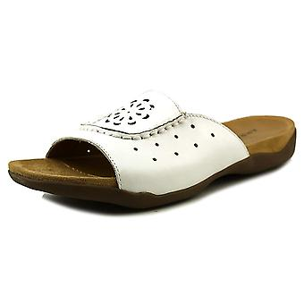 ARRAY Womens sand dollars Leather Open Toe Casual Slide Sandals