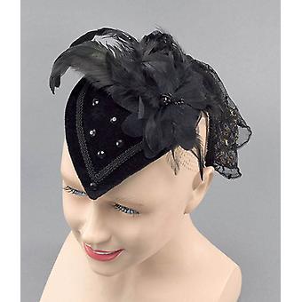 Teardrop Hat. Black Riding Hat.