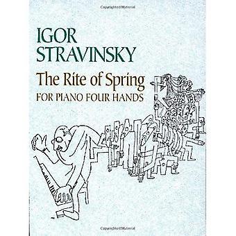 De Rite van de lente voor Piano vierhandig (Dover klassieke muziek voor toetsenbord)