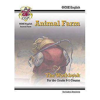 Nouveau Grade 9-1 GCSE anglais - Animal Farm classeur (y compris les réponses)
