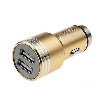 Universal Car Charger with window crusher-Gold
