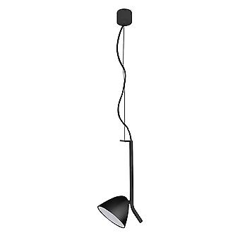Faro - Flash noir unique réglable pendentif LED FARO20205