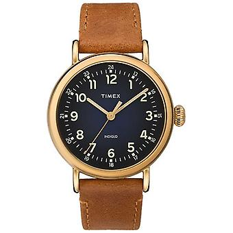 Timex | Gents Tan Leather Strap | Blue Dial | TW2T20000D7PF Watch